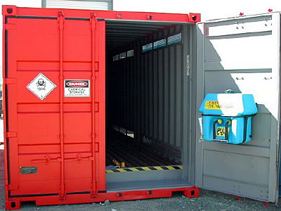 Hazardeous container